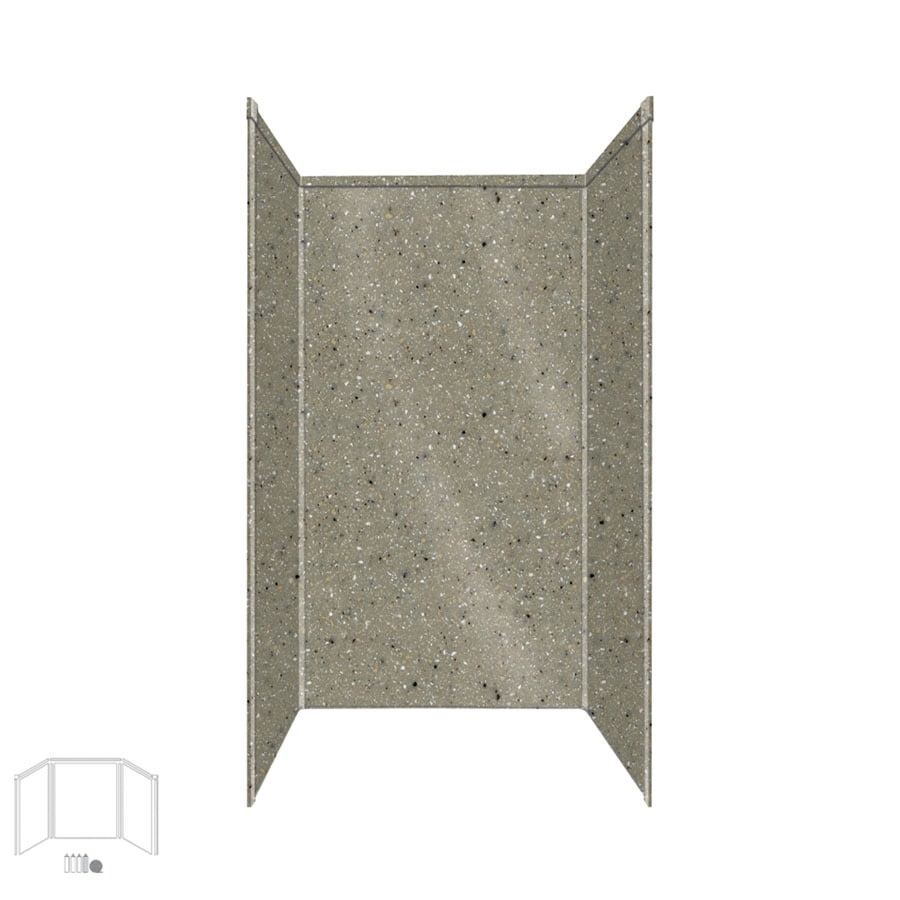 Transolid Decor Peppered Sage Shower Wall Surround Side and Back Panels (Common: 36-in; Actual: 96-in x 36-in)
