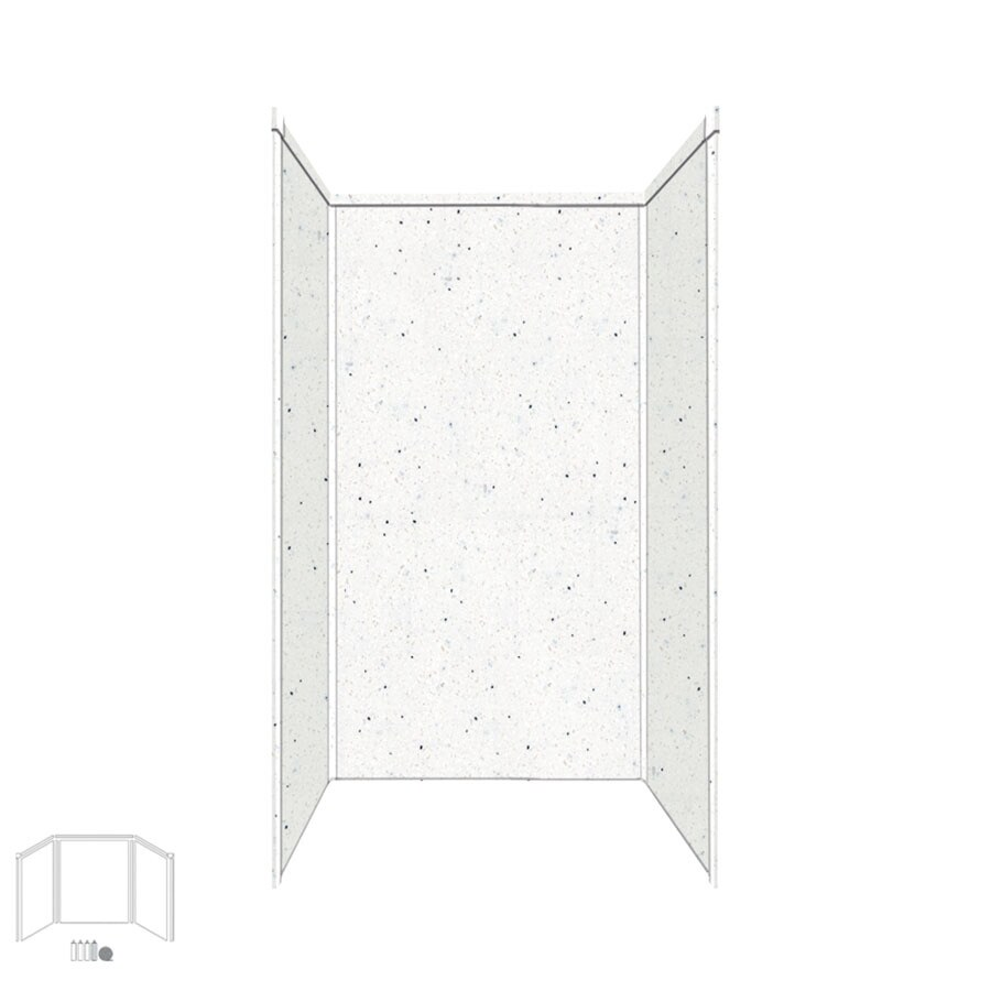 Transolid Decor Matrix Summit/Alabaster Shower Wall Surround Side and Back Panels (Common: 36-in; Actual: 96-in x 36-in)