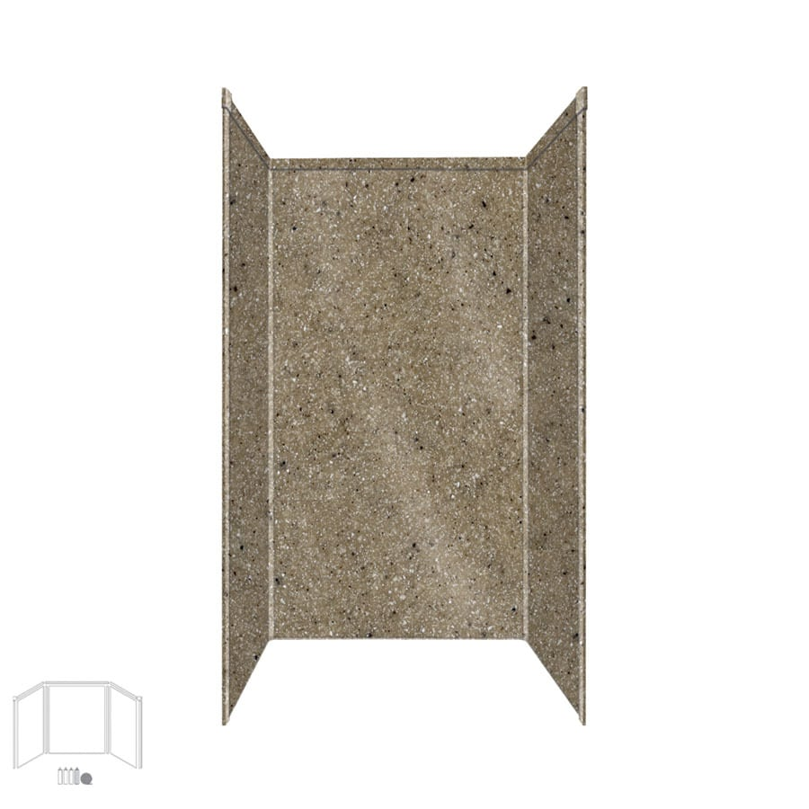 Transolid Decor Matrix Sand Shower Wall Surround Side and Back Panels (Common: 36-in; Actual: 96-in x 36-in)