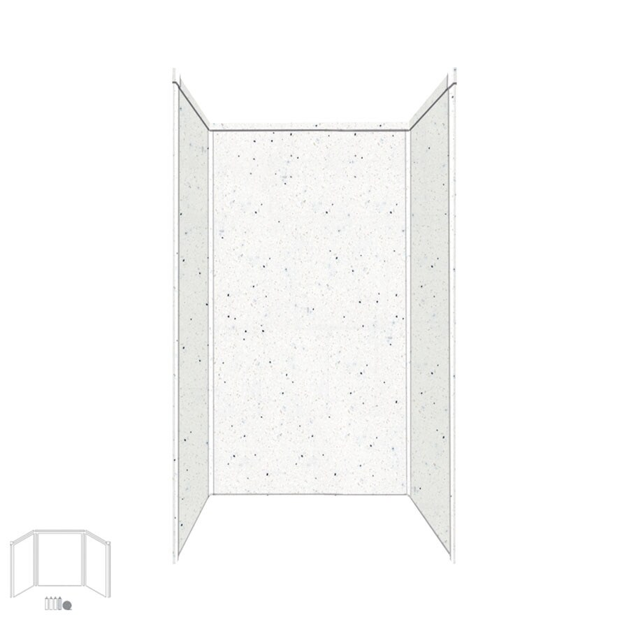 Transolid Decor Matrix Summit/Alabaster Shower Wall Surround Side and Back Panels (Common: 42-in; Actual: 72-in x 42-in)