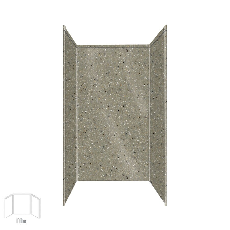 Transolid Decor Peppered Sage Shower Wall Surround Side and Back Panels (Common: 42-in; Actual: 96-in x 42-in)