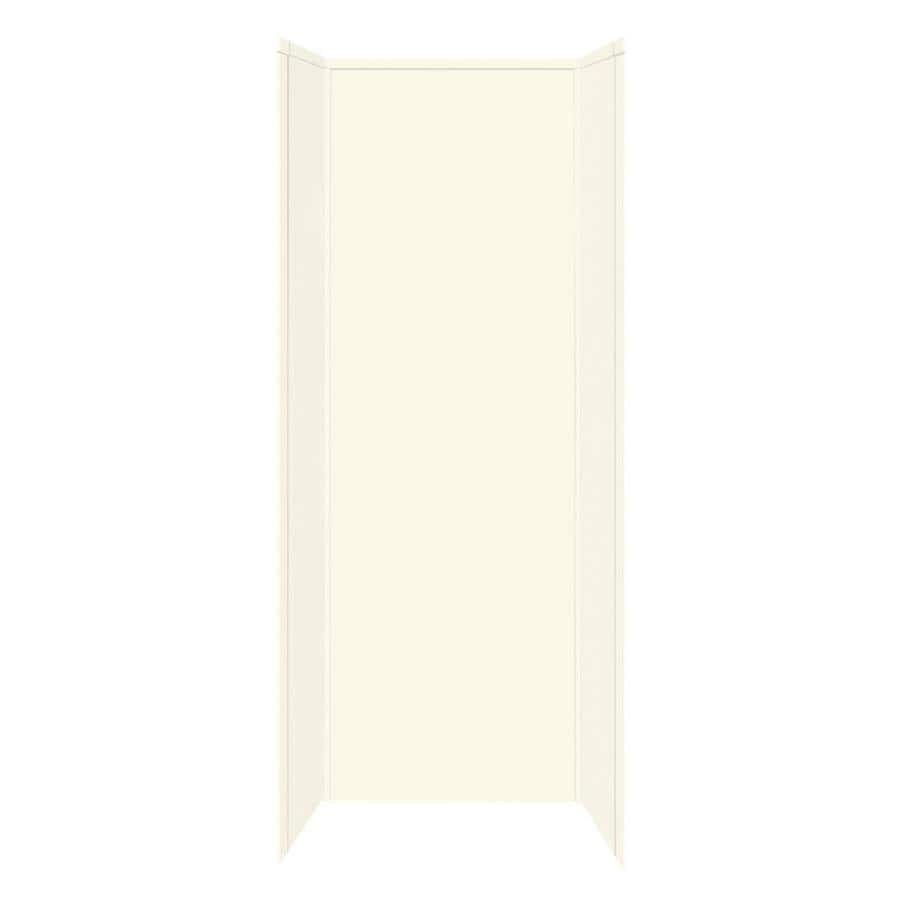 Transolid Decor Biscuit/Buff Shower Wall Surround Side and Back Panels (Common: 42-in; Actual: 96-in x 42-in)