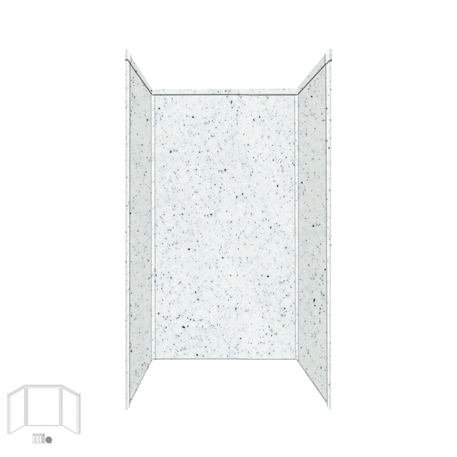 Transolid Decor Matrix White/Speckled White Shower Wall Surround Side and Back Panels (Common: 42-in; Actual: 96-in x 42-in)