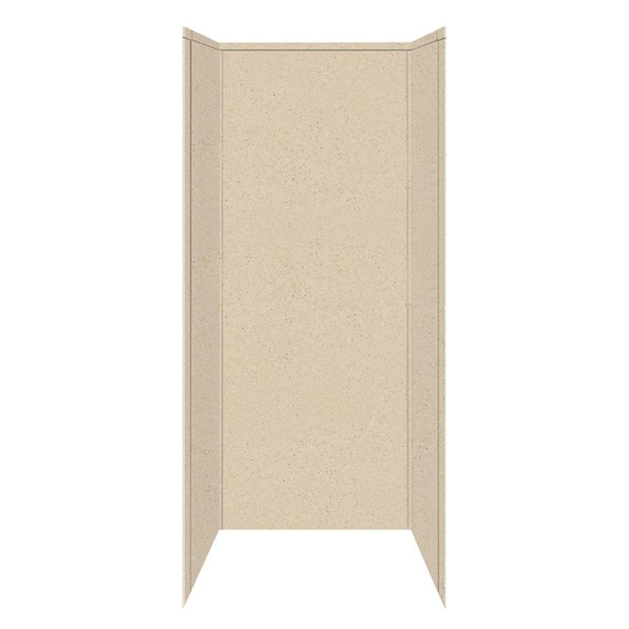 Transolid Decor Matrix Khaki/Sunset Sand Shower Wall Surround Side and Back Panels (Common: 42-in; Actual: 96-in x 42-in)