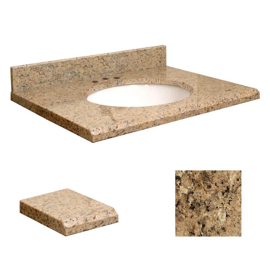Transolid Giallo Veneziano Granite Undermount Single Sink Bathroom Vanity Top (Common: 25-in x 19-in; Actual: 25-in x 19-in)