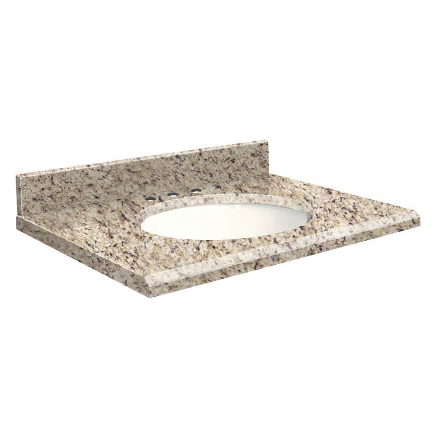 Transolid Giallo Ornamental Granite Undermount Single Sink Bathroom Vanity Top (Common: 37-in x 19-in; Actual: 37-in x 19-in)