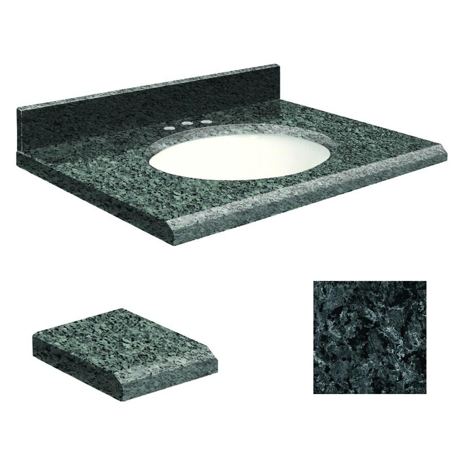 Transolid Blue Pearl Granite Undermount Single Sink Bathroom Vanity Top (Common: 37-in x 22-in; Actual: 37-in x 22-in)