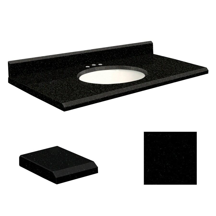 Transolid Absolute Black Granite Undermount Single Sink Bathroom Vanity Top (Common: 43-in x 22-in; Actual: 43-in x 22-in)