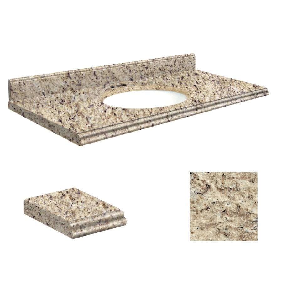 Transolid Giallo Ornamental Granite Undermount Single Sink Bathroom Vanity Top (Common: 43-in x 22-in; Actual: 43-in x 22-in)