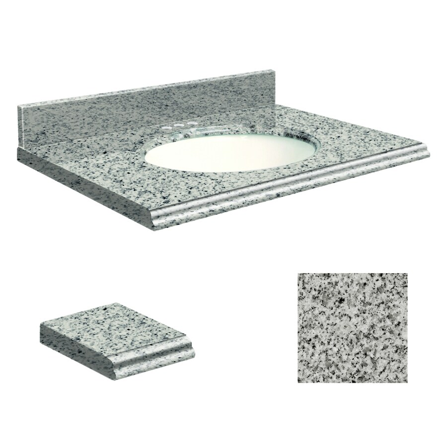 Transolid Rosselin White Granite Undermount Single Bathroom Vanity Top (Common: 49-in x 19-in; Actual: 49-in x 19-in)
