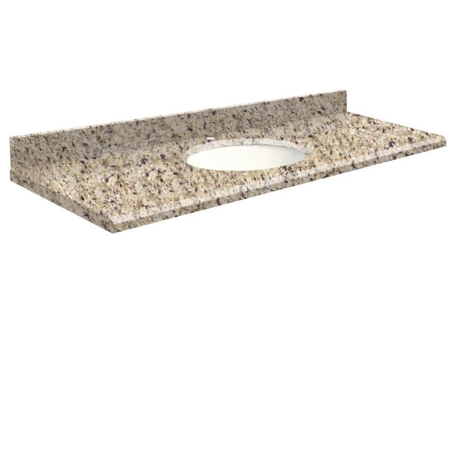 Transolid Giallo Ornamental Granite Undermount Single Bathroom Vanity Top (Common: 61-in x 22-in; Actual: 61-in x 22-in)