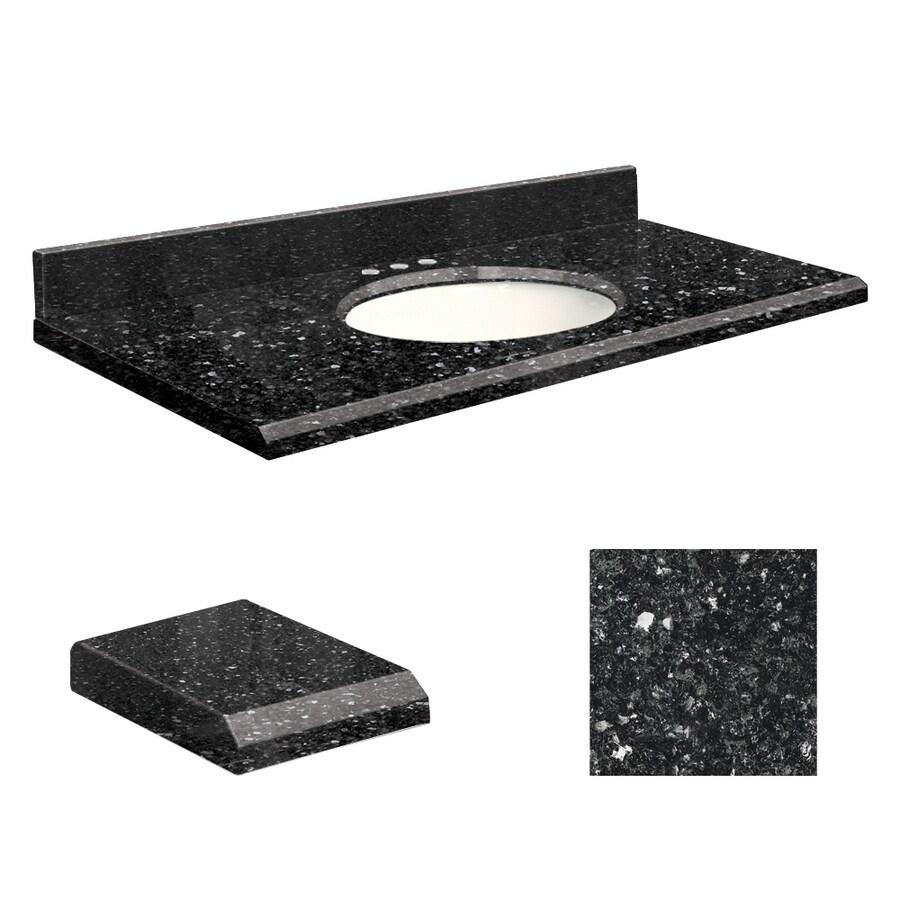 Transolid Notte Black Quartz Undermount Single Bathroom Vanity Top (Common: 25-in x 22-in; Actual: 25-in x 22-in)