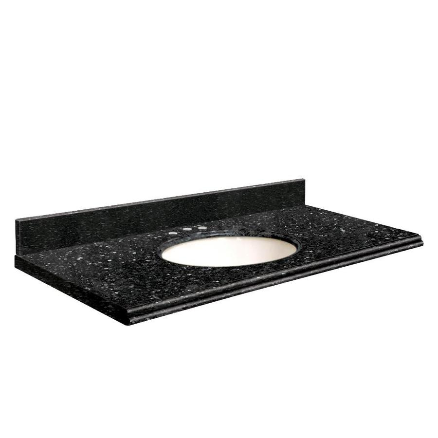 Transolid Notte Black Quartz Undermount Single Bathroom Vanity Top (Common: 25-in x 22-in; Actual: 25-in x 22.25-in)