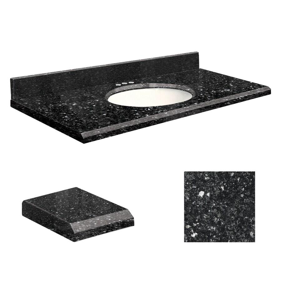 Transolid Notte Black Quartz Undermount Single Bathroom Vanity Top (Common: 31-in x 19-in; Actual: 31-in x 19-in)