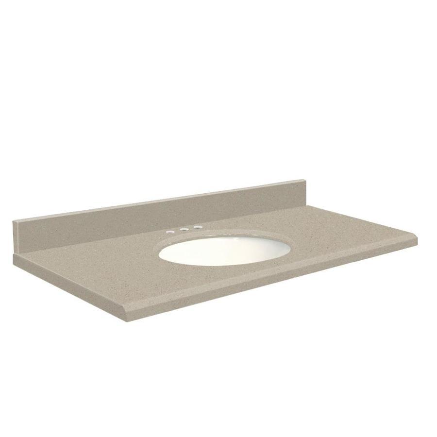 Transolid Olympia Gray Quartz Undermount Single Bathroom Vanity Top (Common: 31-in x 22-in; Actual: 31-in x 22-in)
