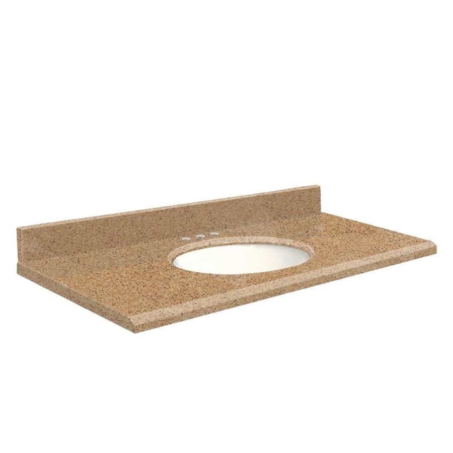 Transolid Umbria Brown Quartz Undermount Single Bathroom Vanity Top (Common: 37-in x 22-in; Actual: 37-in x 22-in)