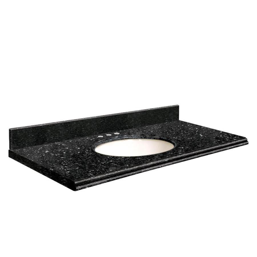 Transolid Notte Black Quartz Undermount Single Bathroom Vanity Top (Common: 37-in x 22-in; Actual: 37-in x 22-in)