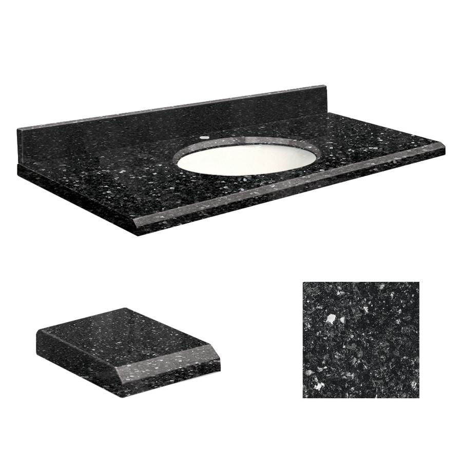 Transolid Notte Black Quartz Undermount Single Bathroom Vanity Top (Common: 49-in x 19-in; Actual: 49-in x 19-in)