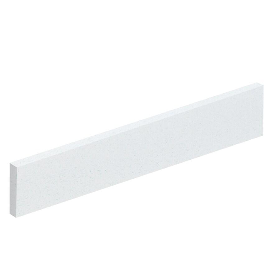 Transolid 4-in H x 19-in L Matrix White Bathroom Side Splash