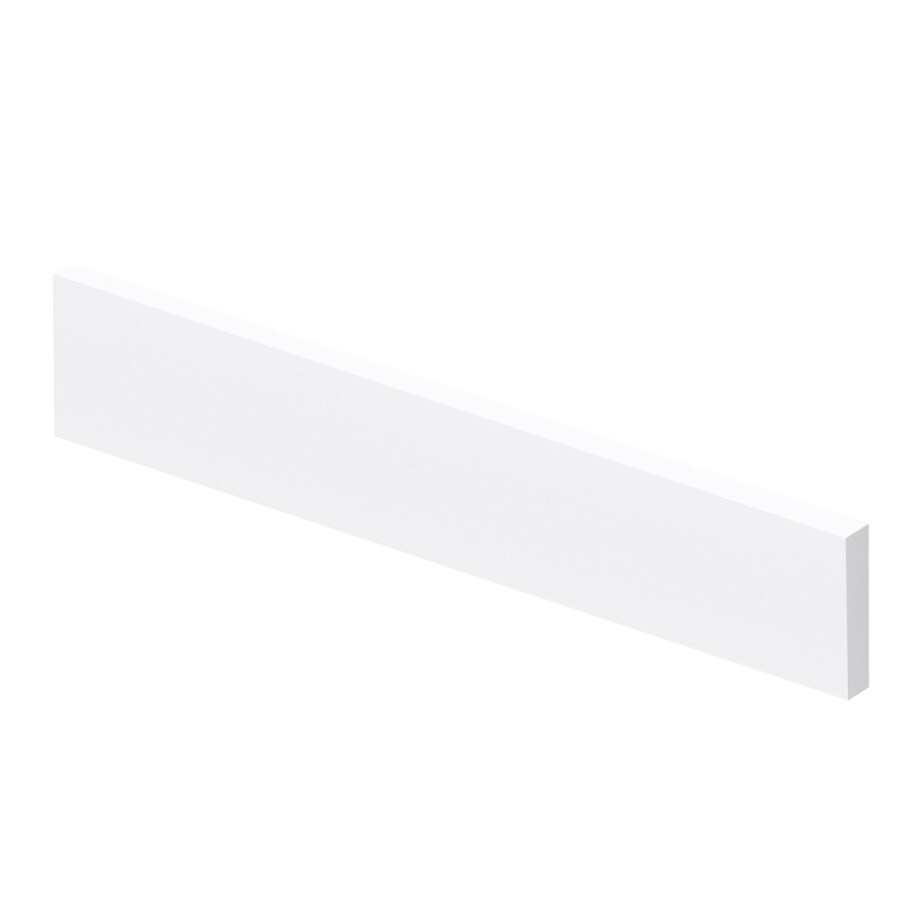Transolid 4-in H x 19-in L White Bathroom Side Splash