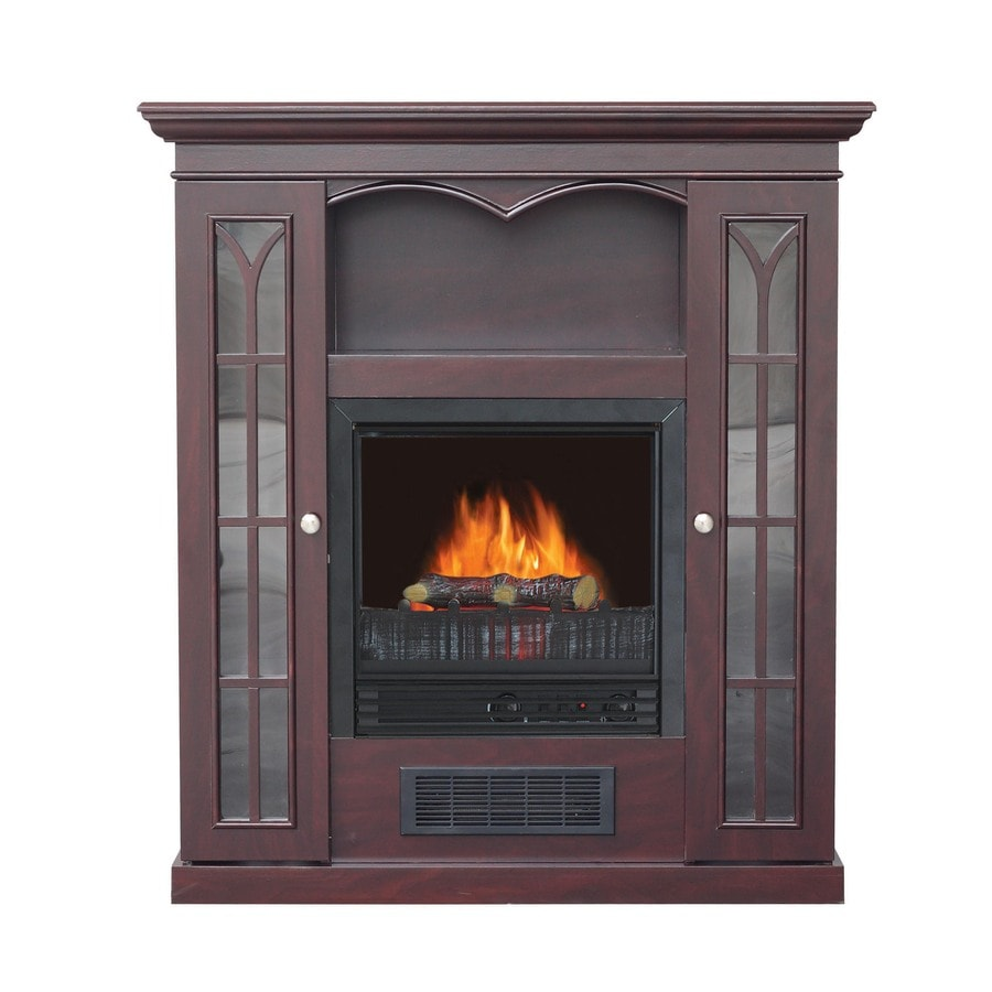Shop Stay Warm 36 In Dark Cherry Electric Fireplace At