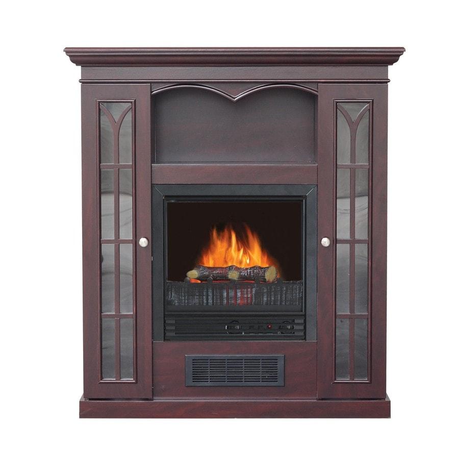 Stay-Warm 36-in Dark Cherry Electric Fireplace