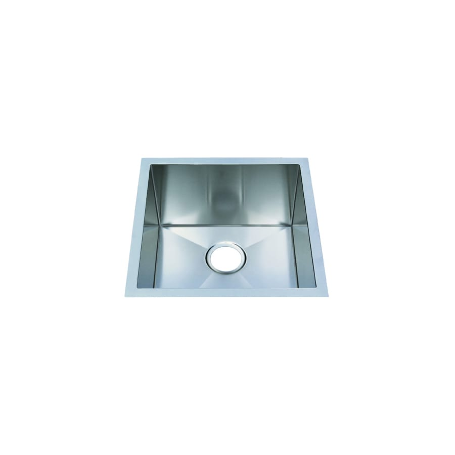 Frigidaire Frigidaire Gallery 18.5-in x 18.5-in Brushed Stainless Single-Basin Undermount Commercial Kitchen Sink