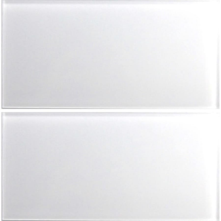 EPOCH Architectural Surfaces Alpinez 5-Pack Whites Glass Wall Tile (Common: 12-in x 12-in; Actual: 5.9-in x 11.81-in)