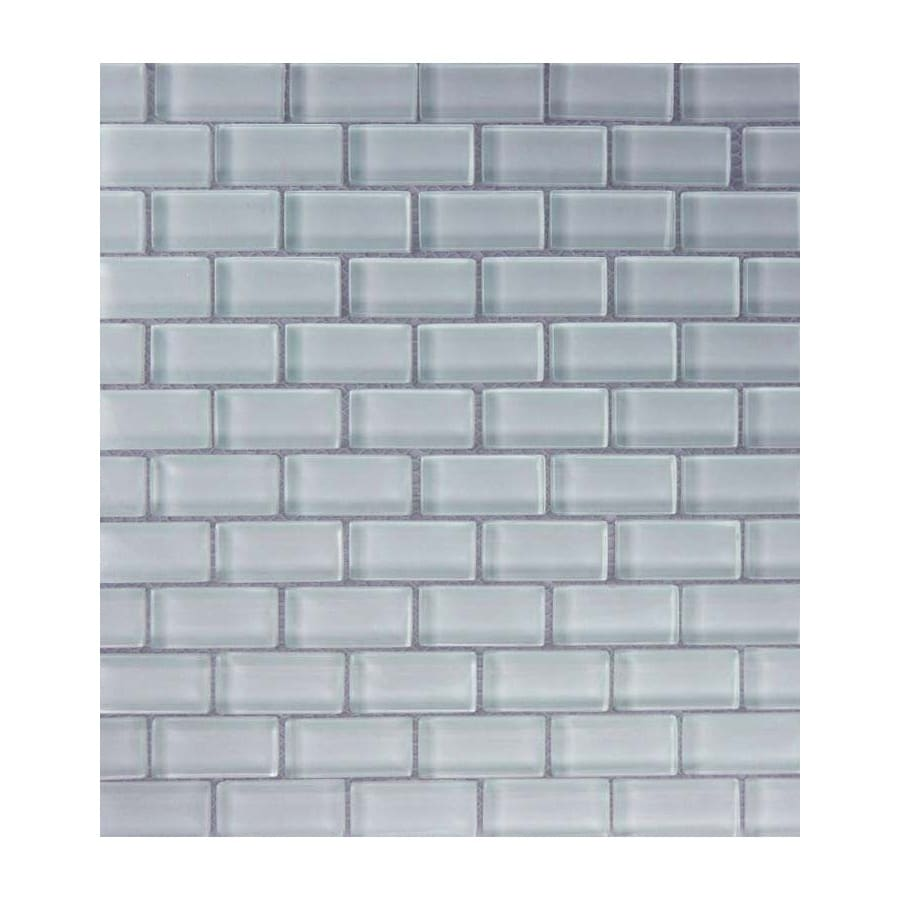 EPOCH Architectural Surfaces Cloudz 5-Pack Grays Uniform Squares Mosaic Glass Wall Tile (Common: 12-in x 12-in; Actual: 11.5-in x 11.75-in)