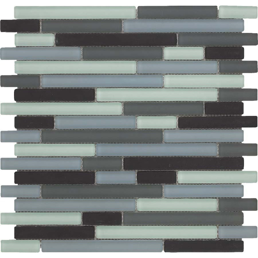EPOCH Architectural Surfaces 5-Pack 12-in x 12-in Color Blends Multicolor Glass Wall Tile