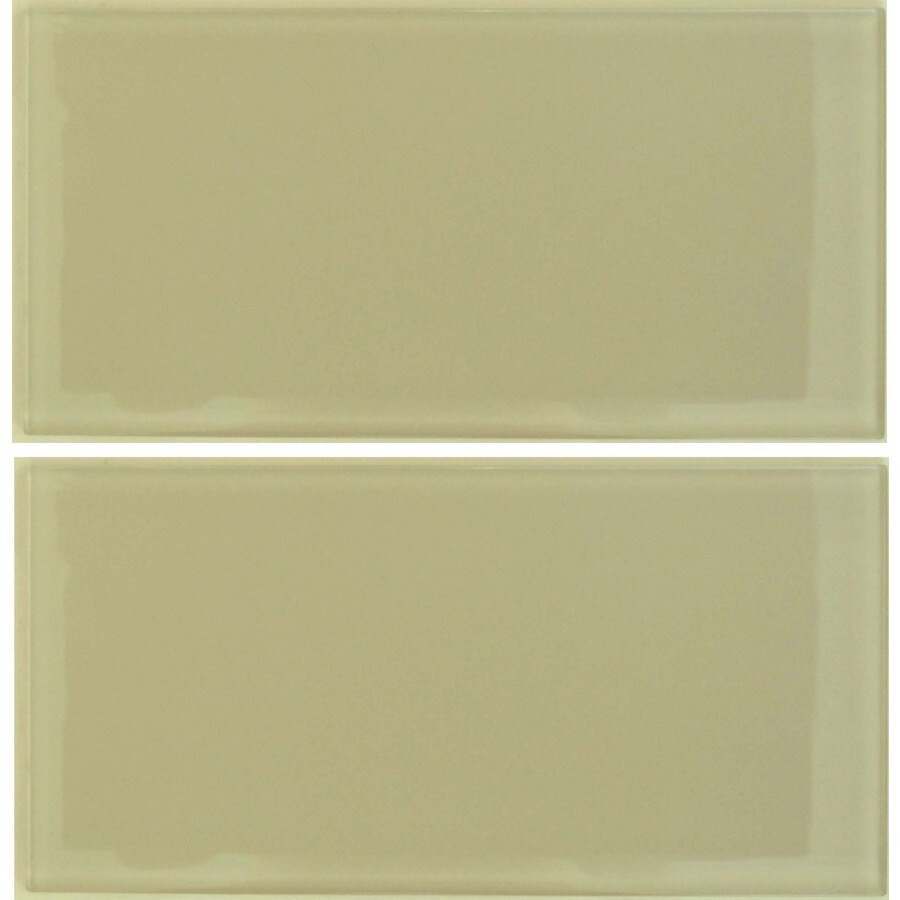 EPOCH Architectural Surfaces Desertz 5-Pack Browns/Tans Subway Mosaic Glass Wall Tile (Common: 12-in x 12-in; Actual: 5.9-in x 11.81-in)