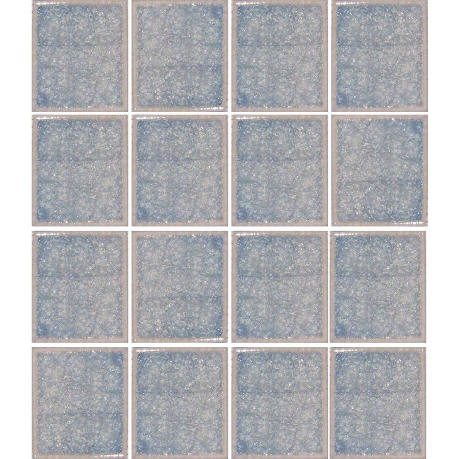 EPOCH Architectural Surfaces Desertz 5-Pack Blues Uniform Squares Mosaic Glass Wall Tile (Common: 12-in x 12-in; Actual: 12.4-in x 12.4-in)