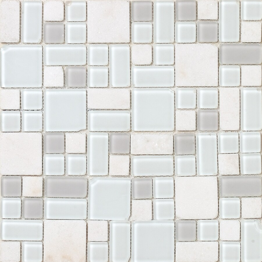 EPOCH Architectural Surfaces No Ka'Oi Multi Mixed Pattern Mosaic Stone and Glass Quartz Wall Tile (Common: 12-in x 12-in; Actual: 11.75-in x 11.75-in)