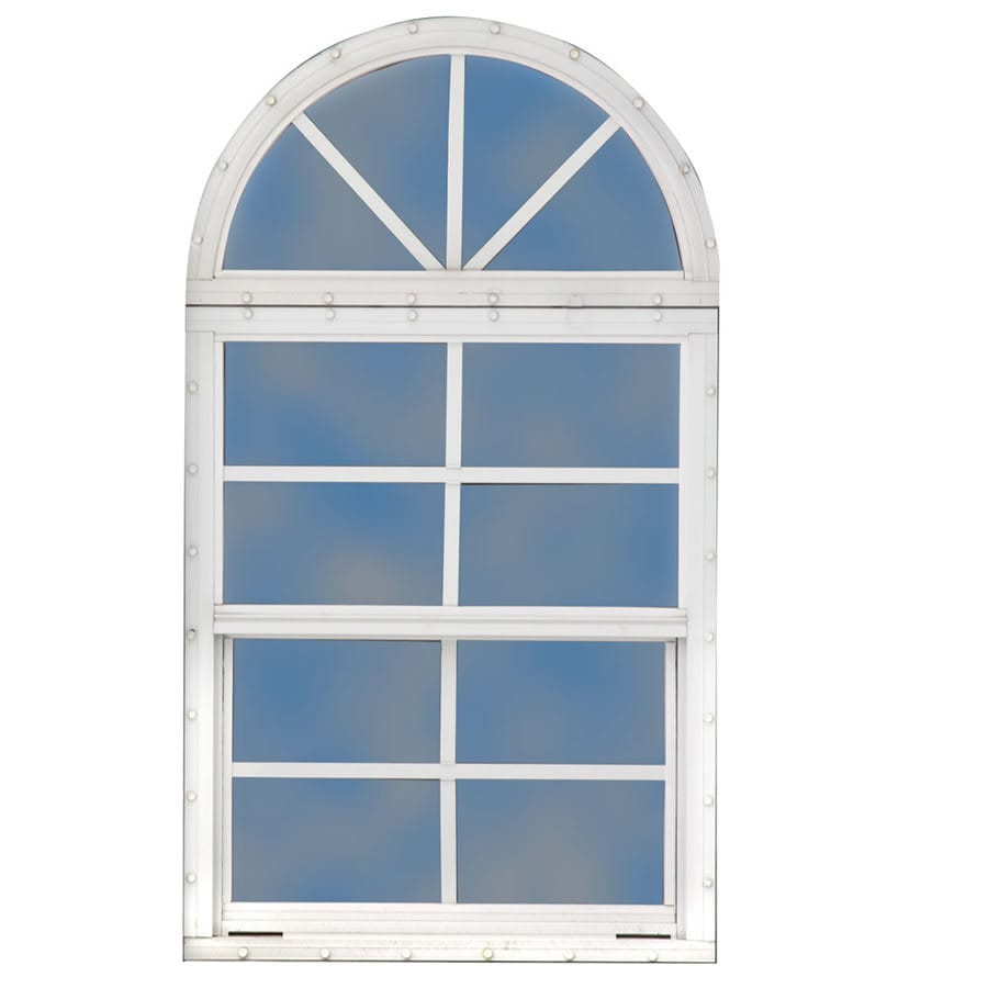 Best Barns White Glass and Aluminum Frame Storage Shed Window
