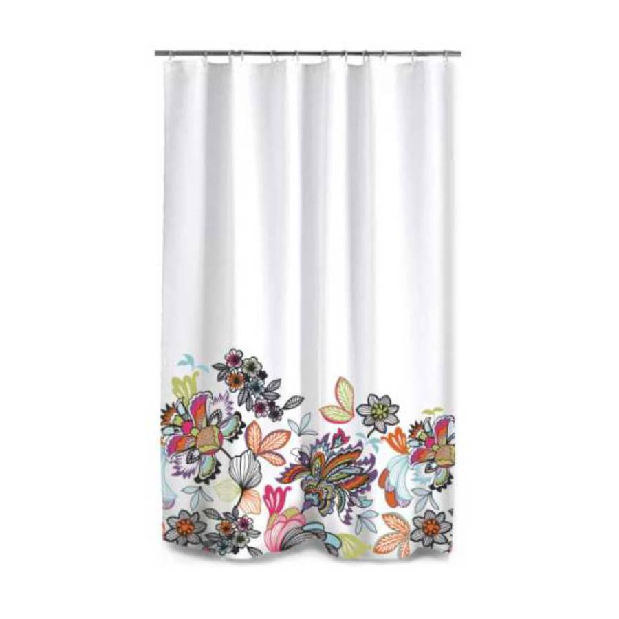 Style Selections Polyester Multicolored Floral Shower Curtain/Liner