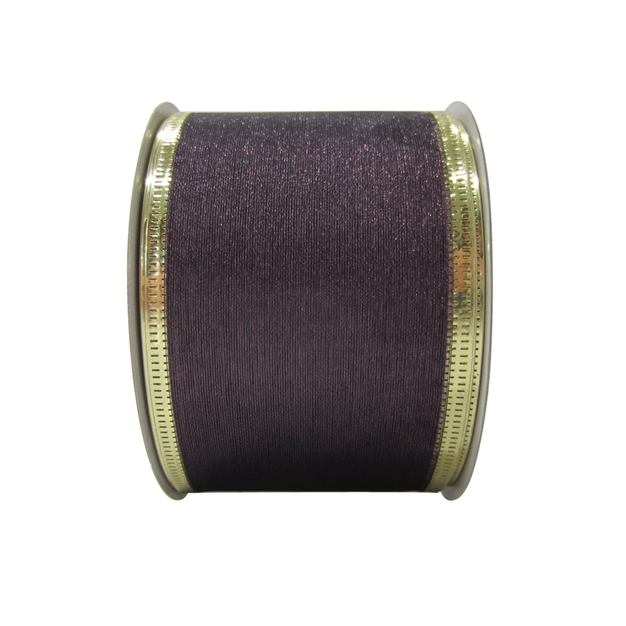 Holiday Living 2.5-in W x 30-ft L Purple Solid Ribbon