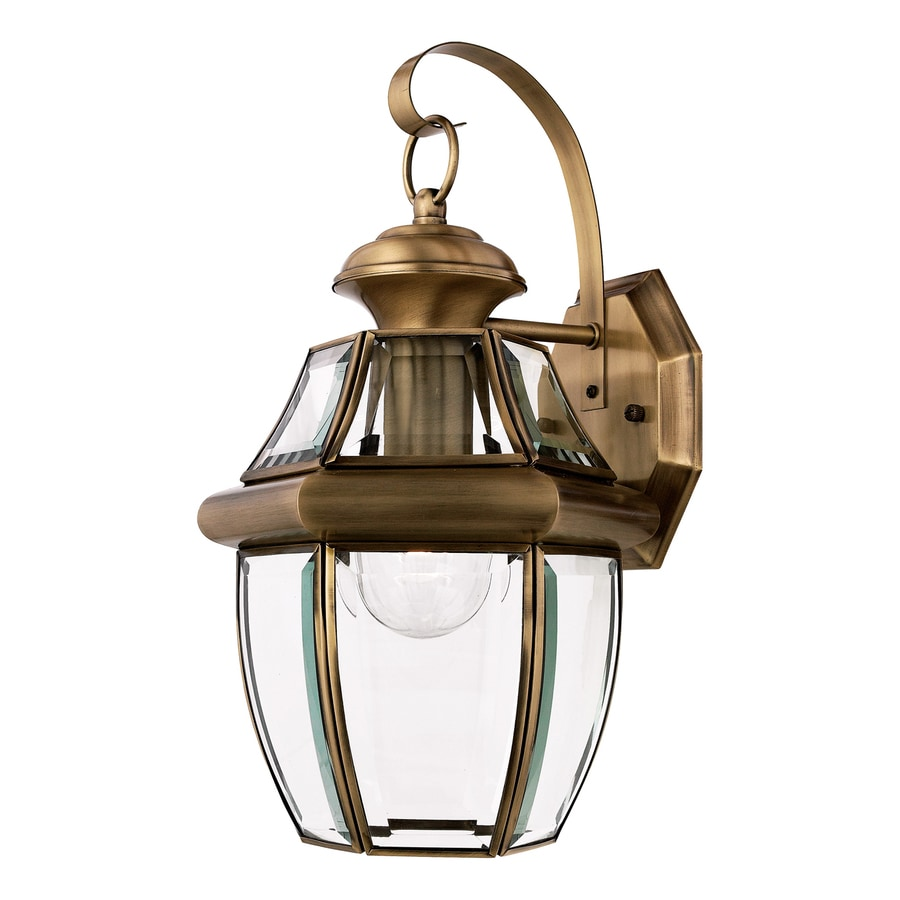 Natalia 9.5-in W 1-Light Antique Brass Arm Wall Sconce