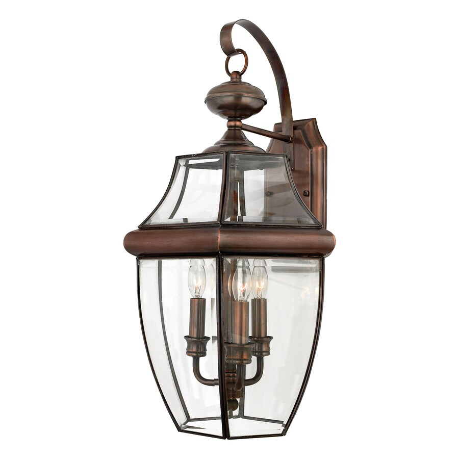 Natalia 14-in W 3-Light Aged Copper Arm Wall Sconce