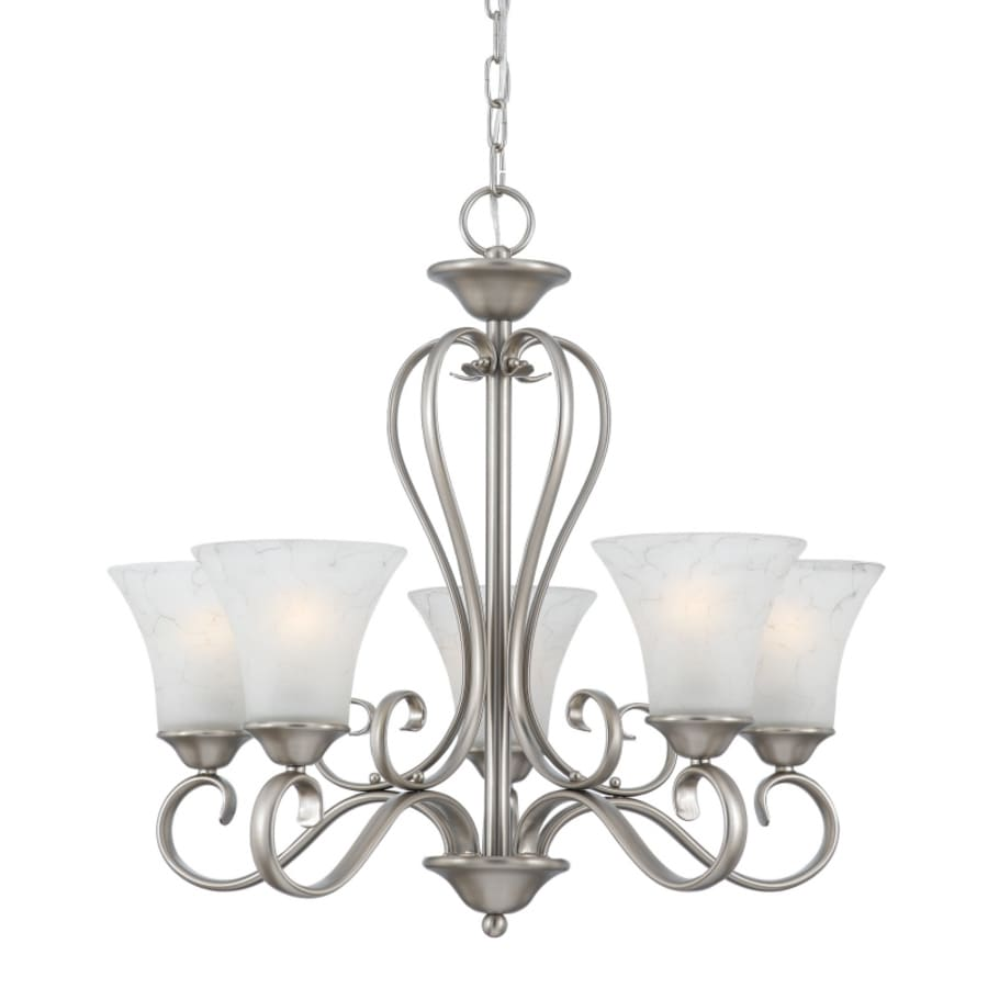 Natalia 22-in 5-Light Antique Nickel Candle Mini Chandelier
