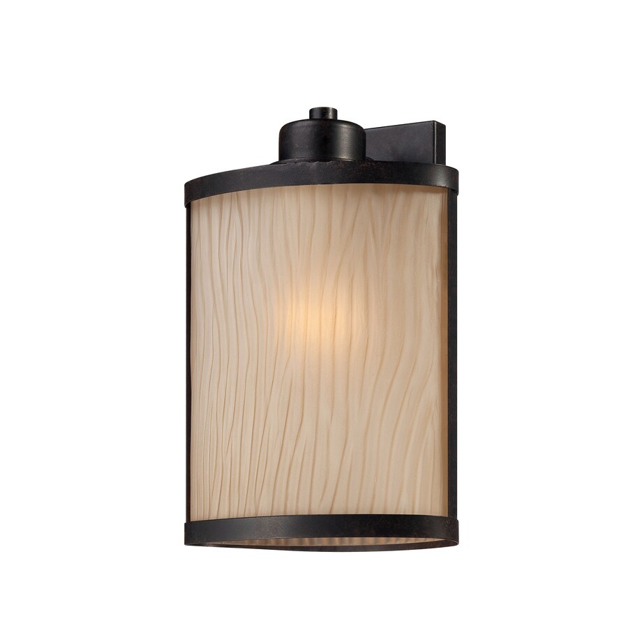 Ashley Harbour 12.06-in H Bronze Outdoor Wall Light