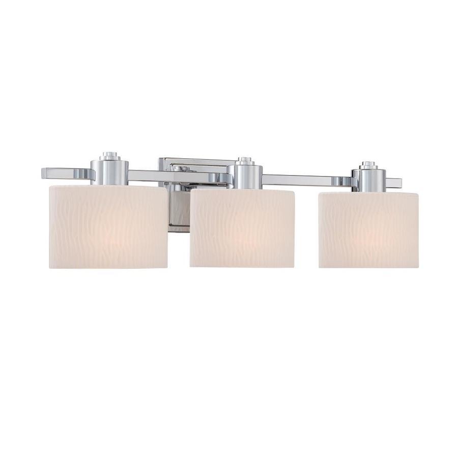 allen + roth Grayson 3-Light Polished Chrome Vanity Light