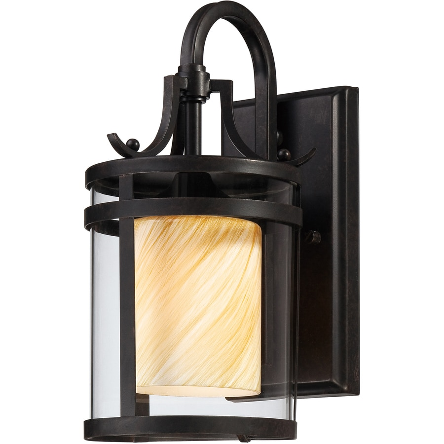 Ashley Harbour 12.63-in H Imperial Bronze Outdoor Wall Light