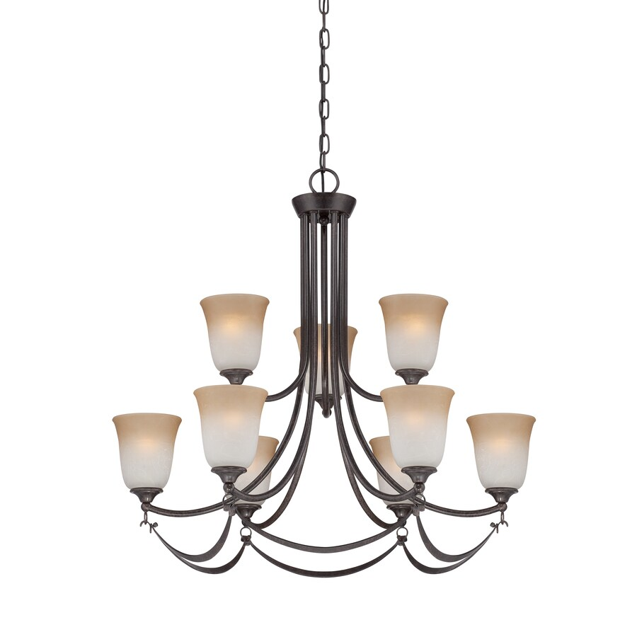 allen + roth Winnsboro 9-Light Imperial Bronze Hardwired Standard Chandelier