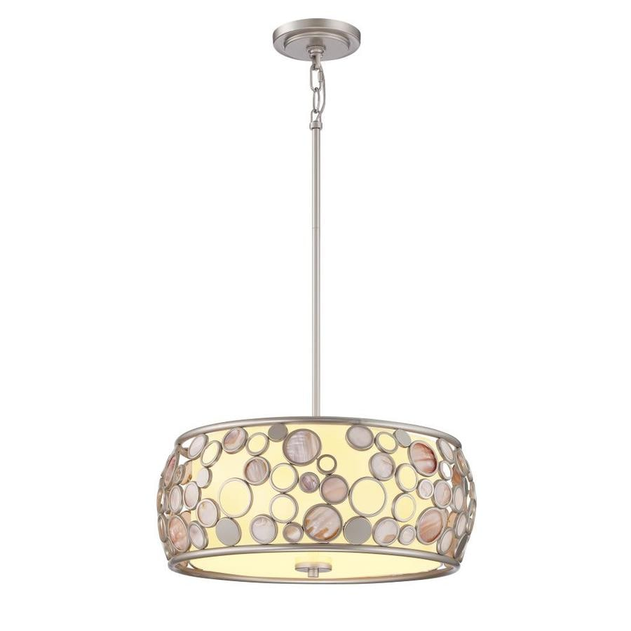 Quoizel Fairgate 18-in Powder Coat Bronze Coastal Multi-Light Drum Pendant