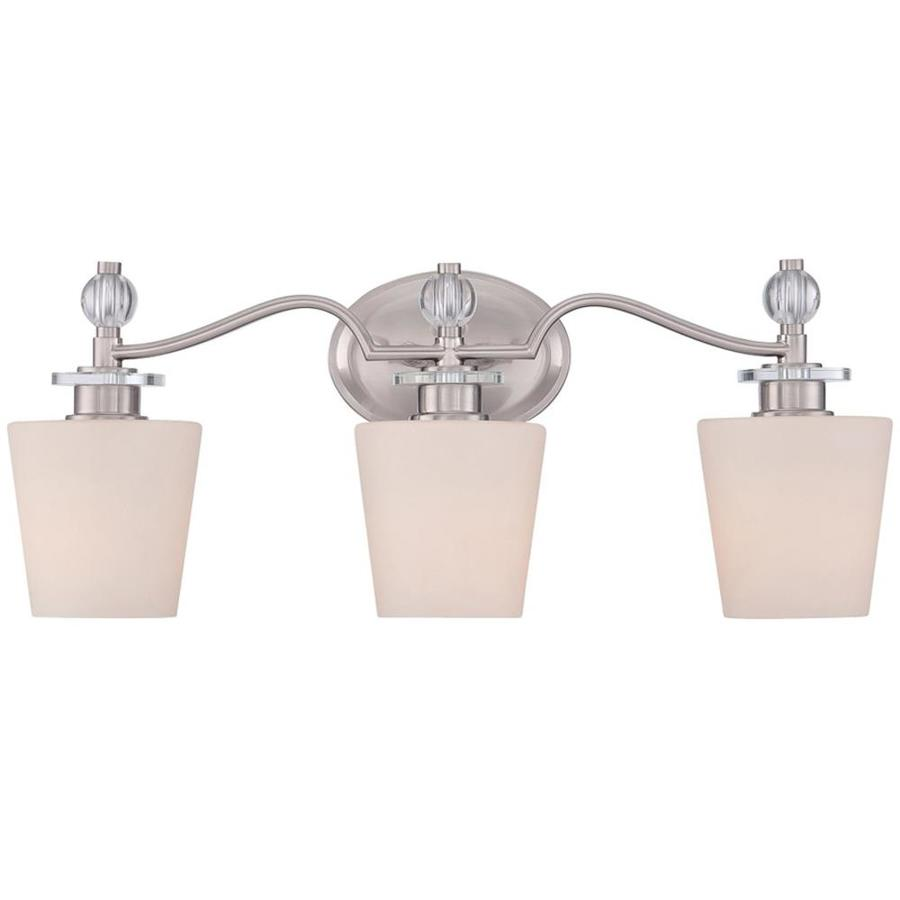 Haru 3-Light Brushed Nickel Vanity Light