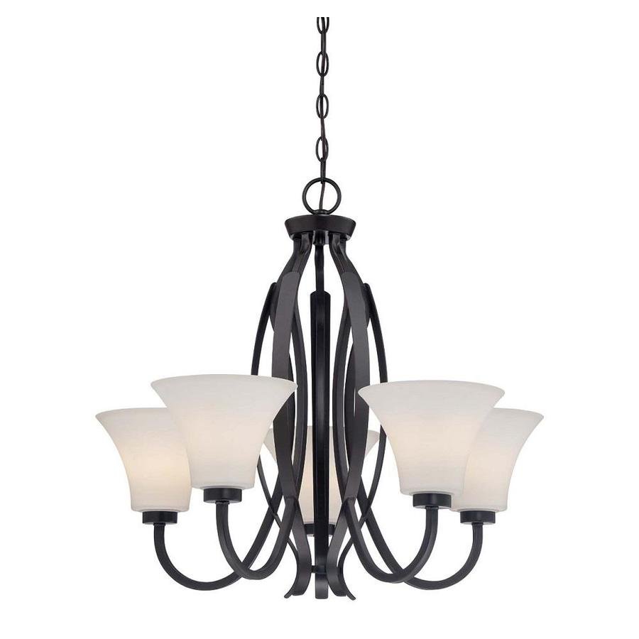 Layel 27.5-in 5-Light Vintage Bronze Candle Chandelier