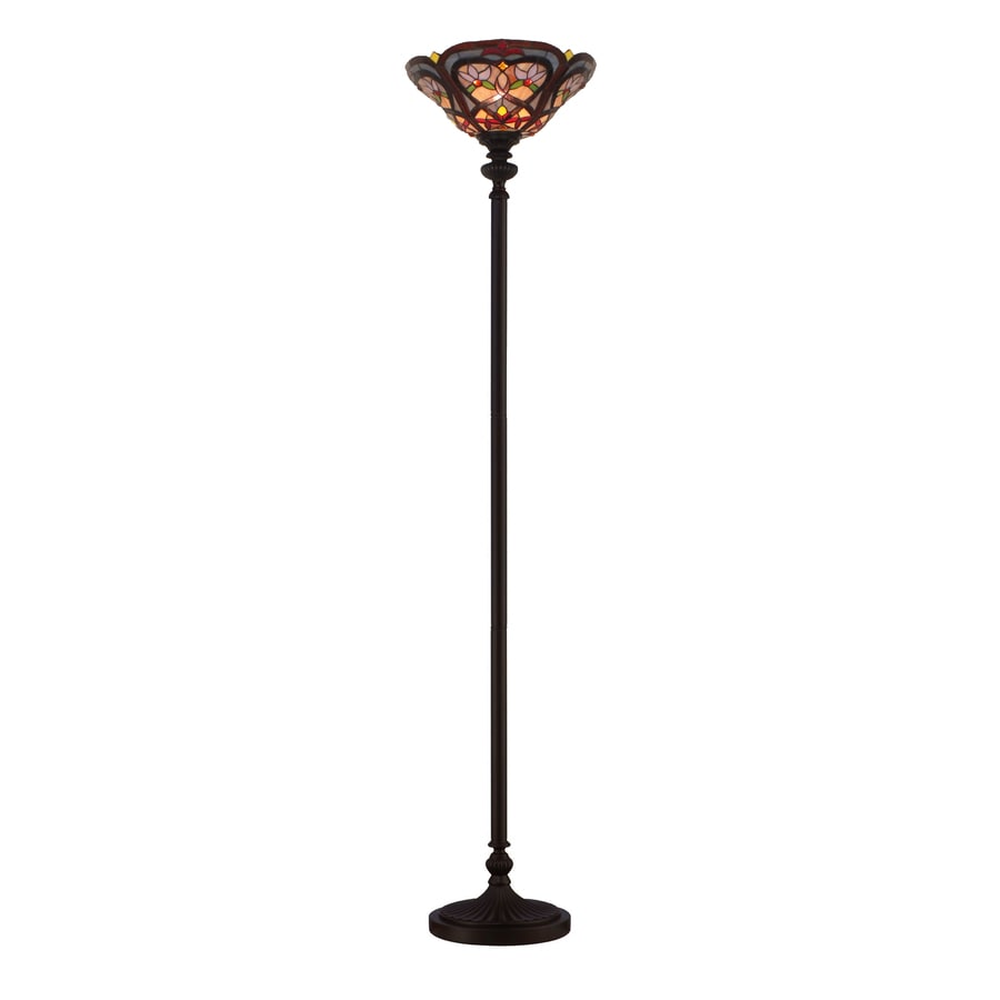 Shop portfolio 72 in 3 way switch mystic black tiffany for 3 way 150 watt floor lamp
