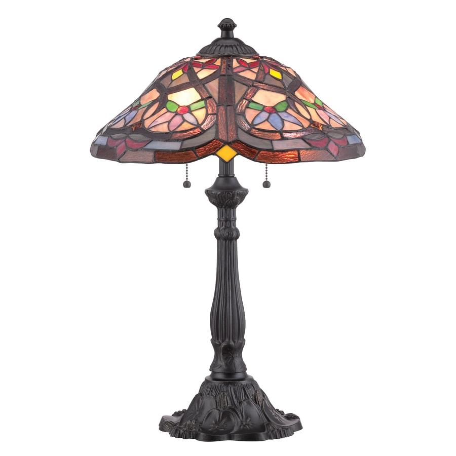 Shop Portfolio 24 In Mystic Black Tiffany Style Table Lamp