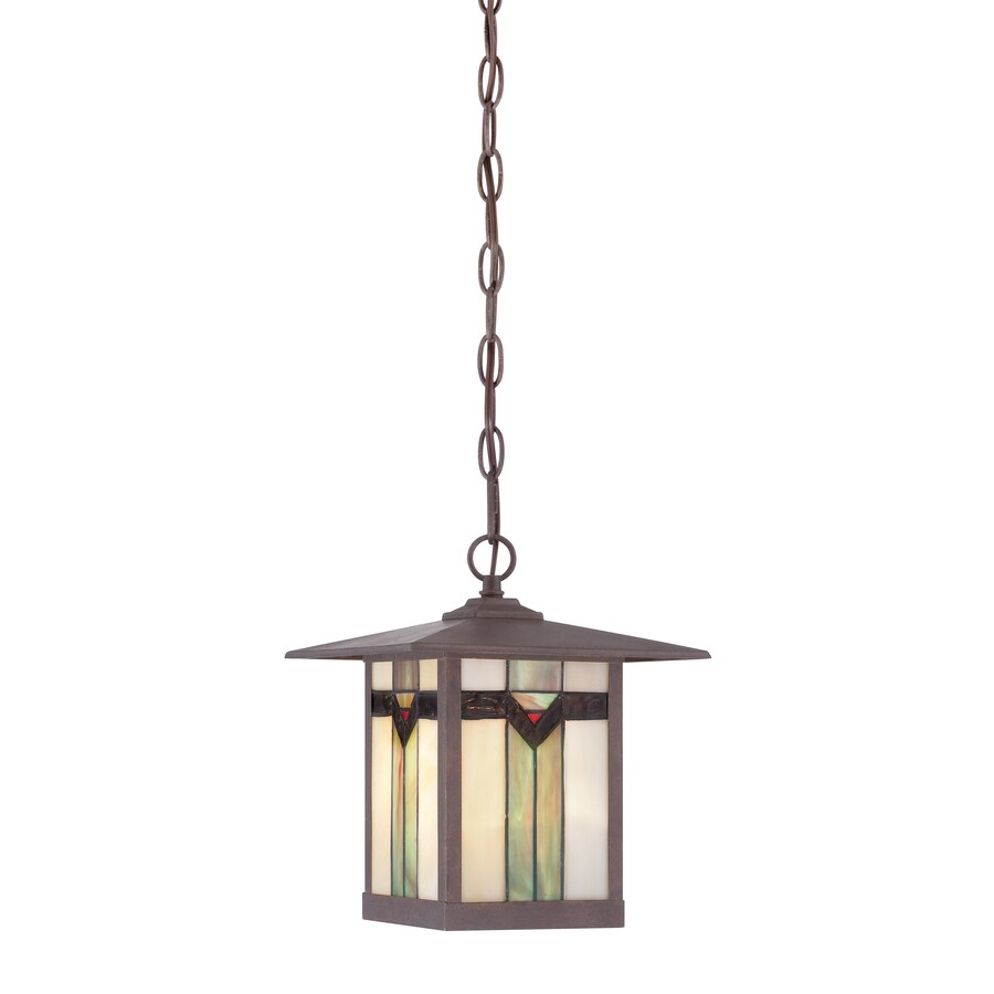 Shop Allen Roth Vistora 11 In Bronze Outdoor Pendant