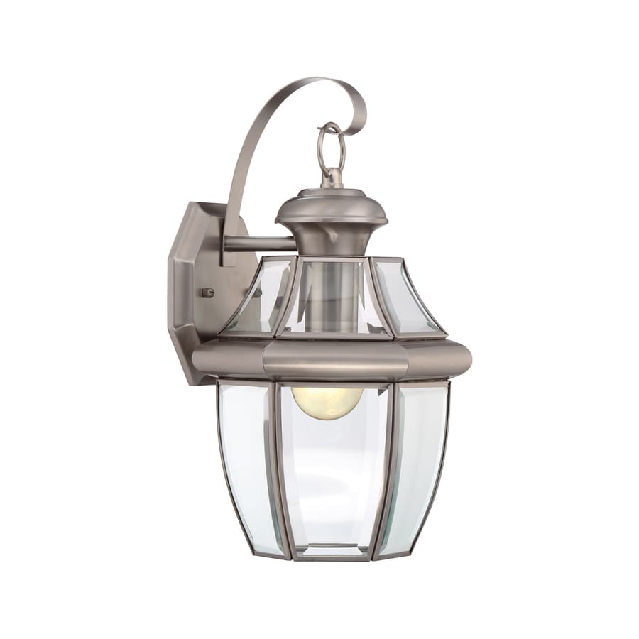 ... Portfolio Brayden 14.13-in H Pewter Outdoor Wall Light at Lowes.com